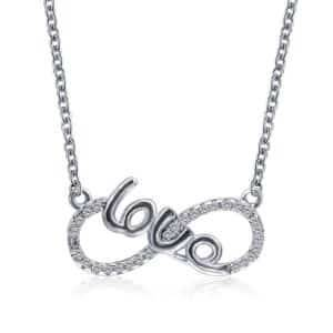 Infinity Shaped Love Necklace Necklaces Products under $30