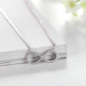 Infinity Shaped Crystal Necklace Necklaces