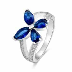 Blue Butterfly Ring Rings