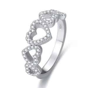 Heart Ring Rings Products under $30 Size: #6|#7|#8