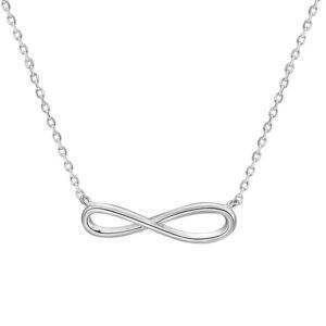 Infinity Shaped Silver Necklace Necklaces Products under $30