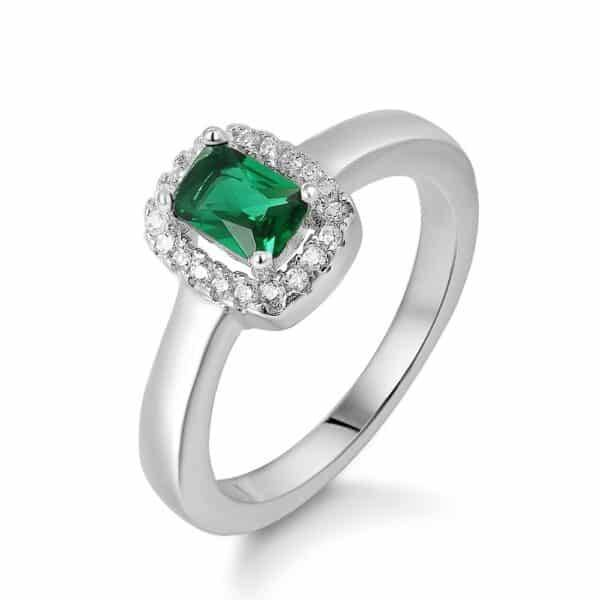 Square-cut Green Ring Rings Products under $30 Size: #6 #7 #8 #9