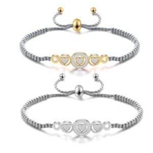 Stainless Heart Charm Beads Bracelet Bracelets Products under $30 8d255f28538fbae46aeae7: AD1176-G|AD1176-M|AD1176-S|AD1176-SG|AD1177-G|AD1177-S|AD1177-SG|gold|silver