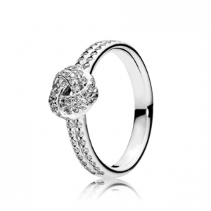 Silver Rose Sparkling Love Knot Jewelry Rings 2ced06a52b7c24e002d45d: 5.25 6.25 7 7.5 8.25