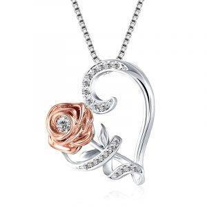 Simple Love Heart Rose Crystal Pendant Necklace Charms Necklaces Products under $30 8d255f28538fbae46aeae7: 01 gold 7015