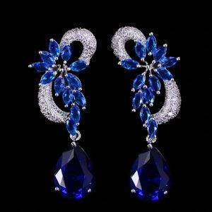 Drop Stones Long Royal Blue Earrings Products under $30 Rings 8d255f28538fbae46aeae7: blue|green|red|white