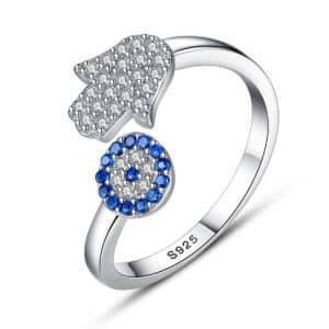 Evil Eye Adjustable Rings Products under $30 Rings 8703dcb1fe25ce56b571b2: Gold|Rhodium plated|Rose Gold