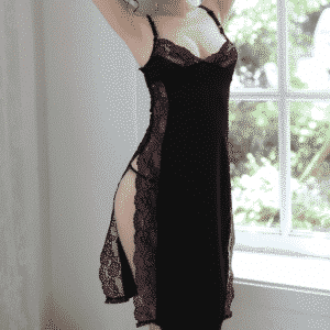 Sexy Lingerie Long Skirt Lace Black Perspective Nighty Nighty 6f6cb72d544962fa333e2e: L|M|S