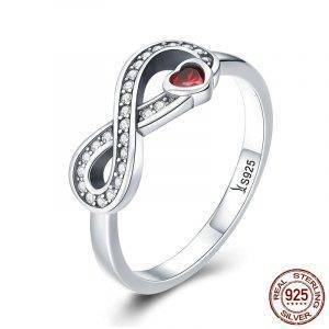 925 Sterling Silver Infinity Forever Love Ring
