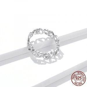 925 Sterling Silver Dazzling Heart To Heart Ring Jewelry Rings 2ced06a52b7c24e002d45d: 6|7|8