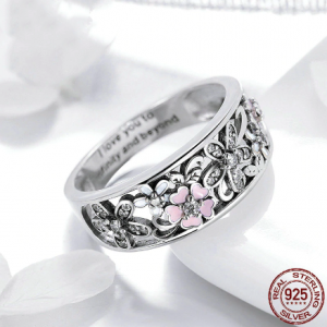 925 Sterling Silver Sparkling Stackable Flower 4mm Finger Rings For Women Silver Jewelry Party Wedding Gift Jewelry Rings 2ced06a52b7c24e002d45d: 6|7|8|9