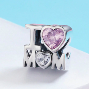 I Love Mom Charm Gift For Mother's Day Jewelry Charms